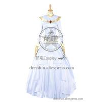 Аладдин и король воров Косплэй Жасмин костюм принцессы белое платье свадебное платье красивое торжественное платье Быстрая доставка