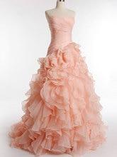 New style Organza Strapless Prom Dress 2017 ruffles Party marriage ceremony coloured fuschia attire underneath festa longo robes