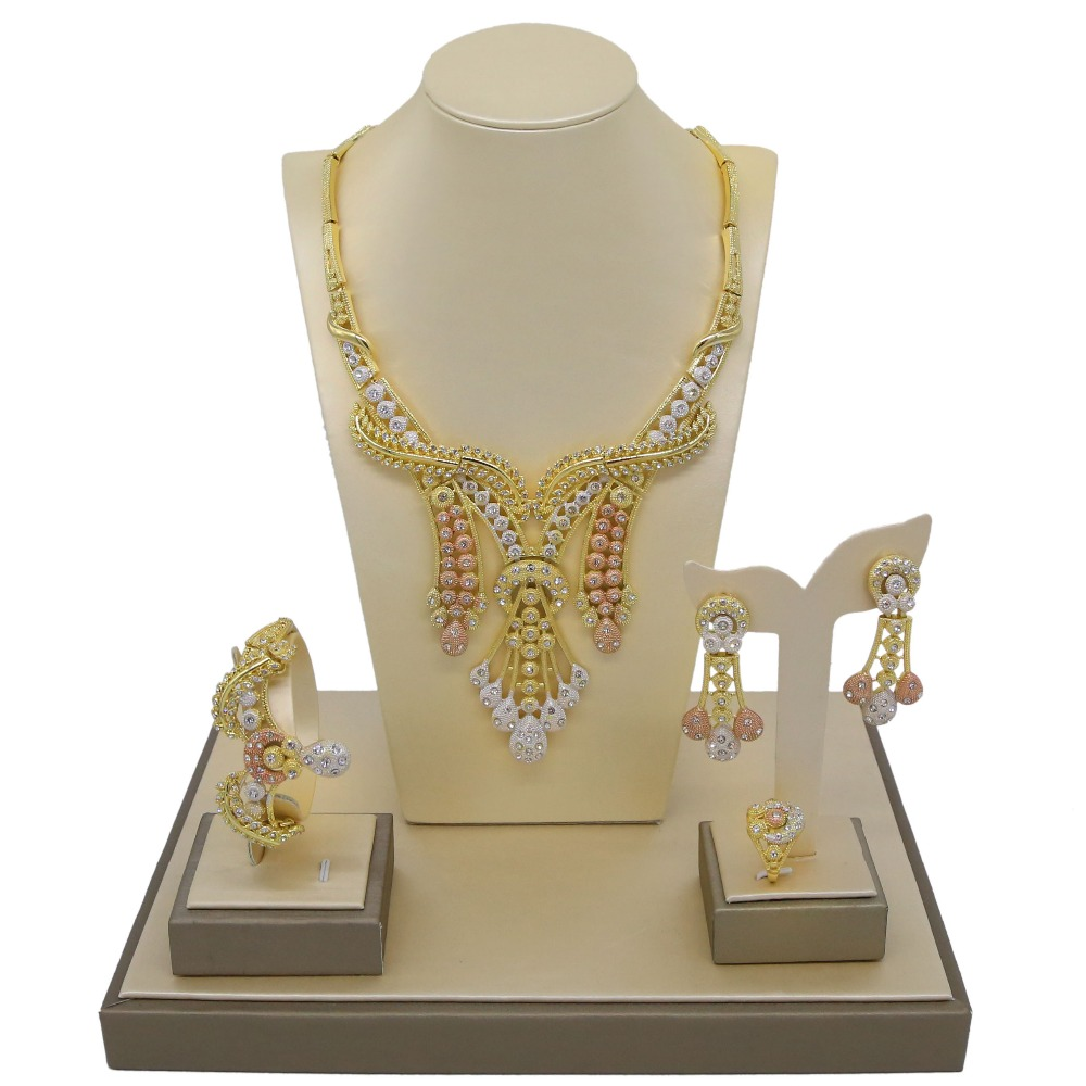 Yulaili 2019 New Arrival Jewelry Design Unique Atmosphere Necklace Four Sets For Women Banquet Wedding OccasionYulaili 2019 New Arrival Jewelry Design Unique Atmosphere Necklace Four Sets For Women Banquet Wedding Occasion