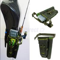 Fishing Lure Storage Bag Rod Case Waist Pack Leg Bags Tackle Storage Outdoor Fishing Camping Hiking Army Green