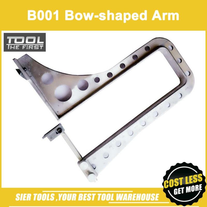 Livraison gratuite!/B001 bras en forme d'arc/bras en métal/porte-arc en aluminium avec bloc pressé et barre de guidage