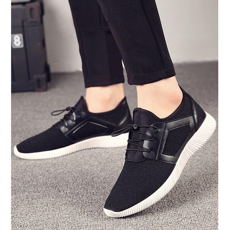 4 Chaussures Adulte Large Appartements Confortable Extra Up Automne Lace Homme Mode bleu Noir Printemps Taille Casual Hommes Sneakers Couleurs Classique wEqxOAB5