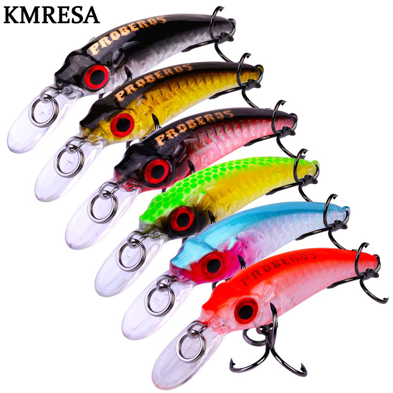 Image 5 - 1Pcs Mini wobbler Jerkbait 6cm/3.5g Laser Hard Bait Minnow Crank fishing lures hook Bass Fresh saltwater tackle sinking-in Fishing Lures from Sports & Entertainment