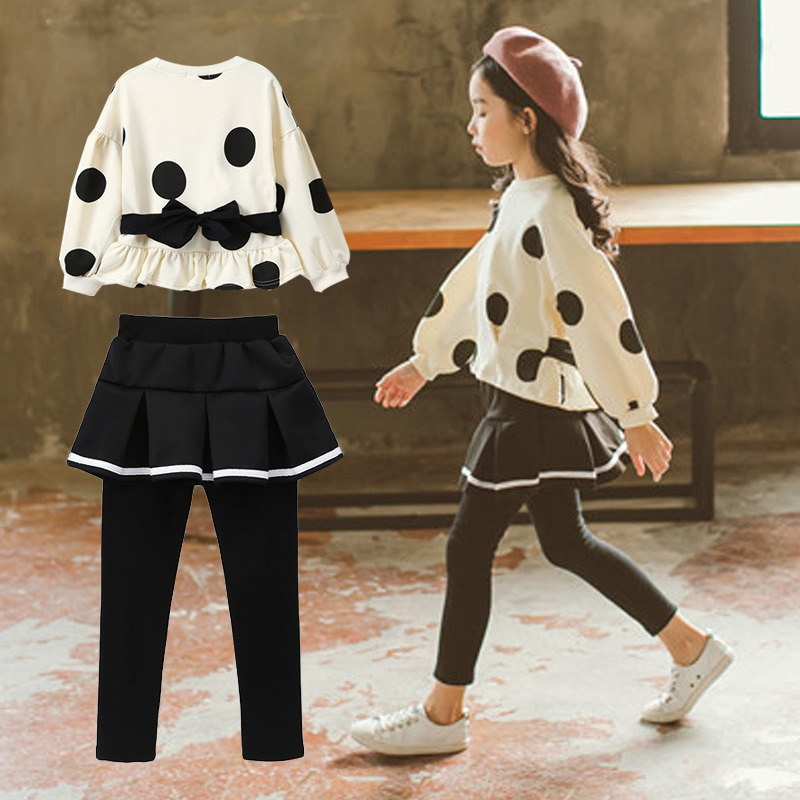 Kids Clothes Sets For Girls 4 5 6 7 8 9 10 11 12 13 14 Years 2018 Spring Baby Girl Clothing Long Sleeve Blouses + Skirt Leggings children s girls summer short sleeve sports suit clothes set for girl print clothing sets 4 6 7 8 9 10 12 13 14 years old