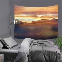 Popular American modern drawing print tapestry hippie mandala wall hanging Bohemian bedspread dorm decor tapestries 51x60 LZC19
