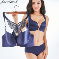 Jerrinut Seamless Lingerie Set Underwear Women Bra set Sexy Plus Size Bra And Panty Set Wire Free Breathable Push Up Bra