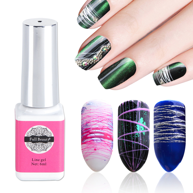 Wire Drawing Nail Gel Spider Web Creative Line Painting Gel Polish Pulling Lacquer Varnish Silk Nail Art Design Accessory LA731