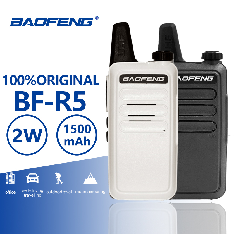 Baofeng BF R5 Mini Kids Walkie Talkie Hf Transceiver UHF Radio Portable 2W Toy Communicator Handy Talkie Two Way Radio Wln KD C1-in Walkie Talkie from Cellphones & Telecommunications