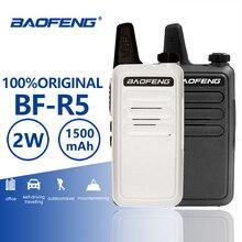 Baofeng BF R5 Mini Walkie Talkie Hf transceptor UHF Radio portátil 2 W juguete comunicador práctico Talkie Radio de dos vías ganar KD C1