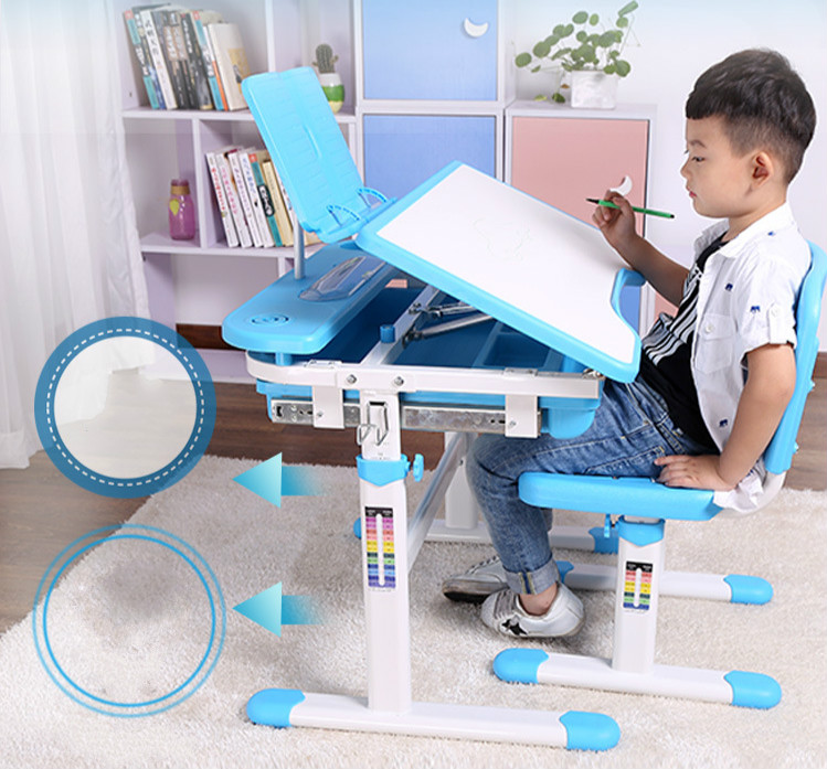 New Adjustable Height Protection Vision Correcting Sitting Posture Children Learning Desk And Chair Set Writing Desk купить