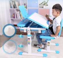 New Adjustable Height Protection Vision Correcting Sitting Posture Children Learning Desk And Chair Set Writing Desk(China)