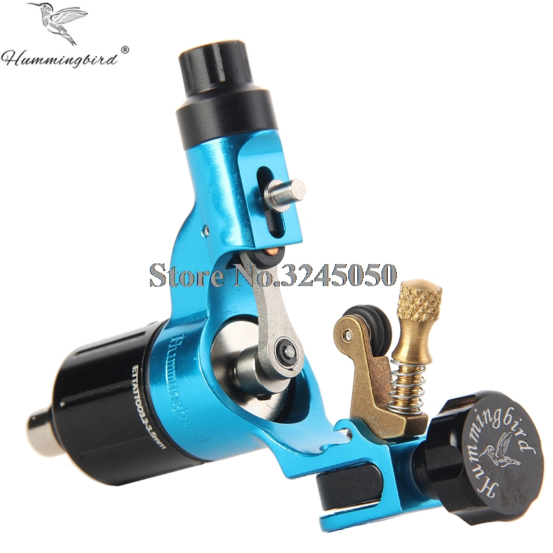 Original Hummingbird V2 Swiss Motor Rotary tattoo machine Blue Free RCA Cord For Tattoo Supply pro top swiss motor rotary tattoo machine blue for tattoo supply free rca cord