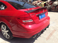 Fit for Mercedes Benz C63 AMG W204 C180 C200 C260 C280 C300 carbon fiber rear spoiler rear wing