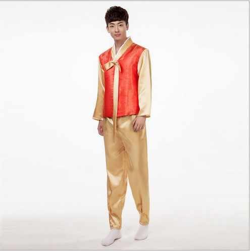 2016 משלוח חינם באיכות מעולה גברים ריקוד תלבושות Hanbok מסורתית מסורתית קוריאנית בגדי גברים גודל חינם