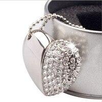 Наиболее Продаваемых товаров ожерелье шнурки из металла в форме сердца бриллиантами 4 ГБ 8 ГБ 16 ГБ 32 ГБ 64 ГБ кулон подарок usb флэш-памяти