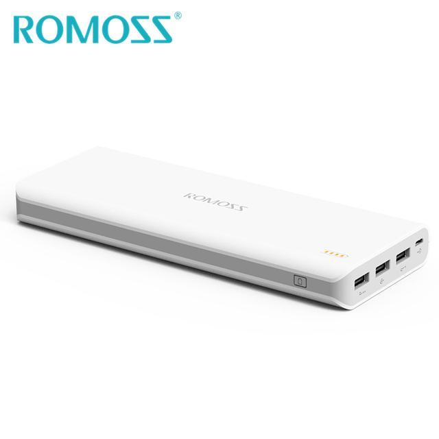 Original romoss sense 9 powerbank 25000 mah banco de la energía externa de reserva de la energía del teléfono 18650 batería 3 usb de salida