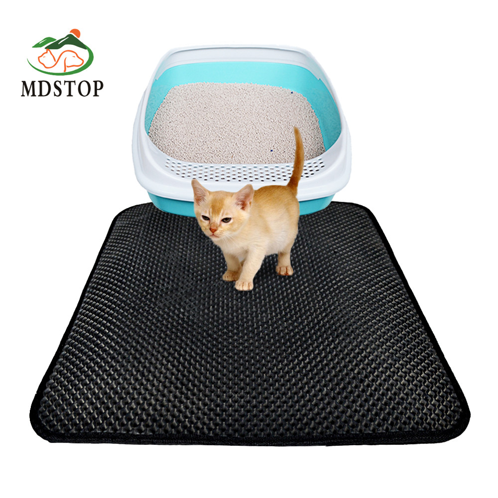 Cat Litter Trapper Mat Folding Waterproof Honeycomb Sifting Pad Protect Floor And Carpet Eco