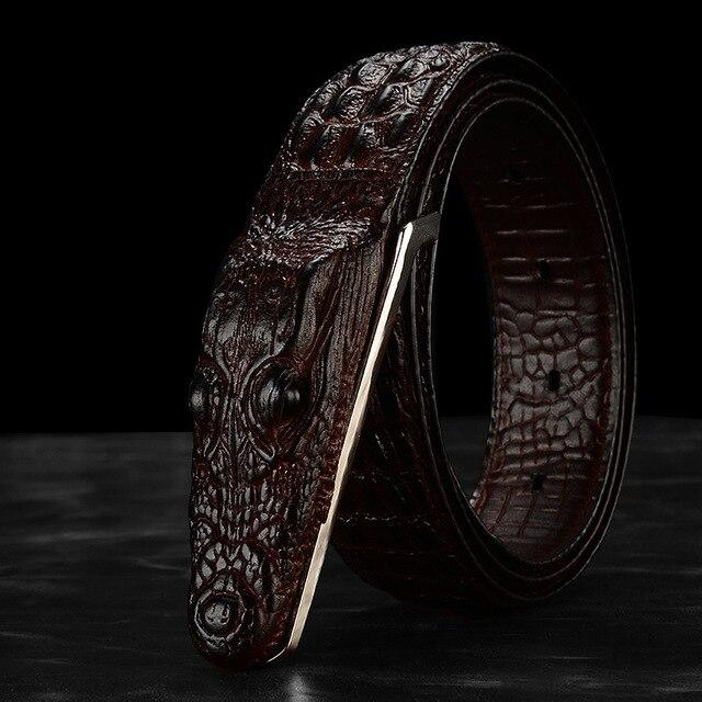 c6783eb23a5 Hommes de nouveau haut de gamme designer crocodile grain marque de luxe en cuir  ceintures en