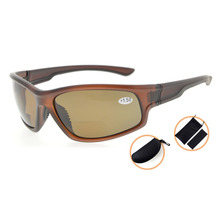 TH6199PGSG Sports Bifocal Reading Glasses Polycarbonate Polarized Sunglasses TR90 Unbreakable