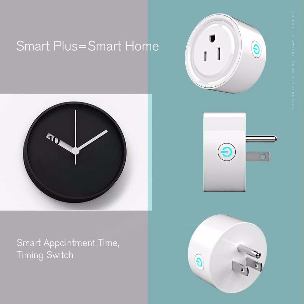 Wifi Plug Smart Household Home Power Control Socket Remote Control US Plug Wifi control no hub with timer function voice control ...