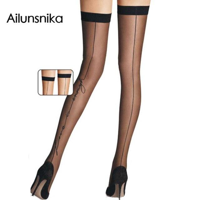 2017 nova mulher amor permanecem acima coxa sheer meias altas be2133 moda barato preto/nude summer estilo sexy arrastão lotação
