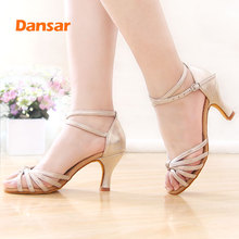 Hot selling Women Professional Dancing Shoes Ballroom Dance Ladies Latin heeled 5CM/7CM