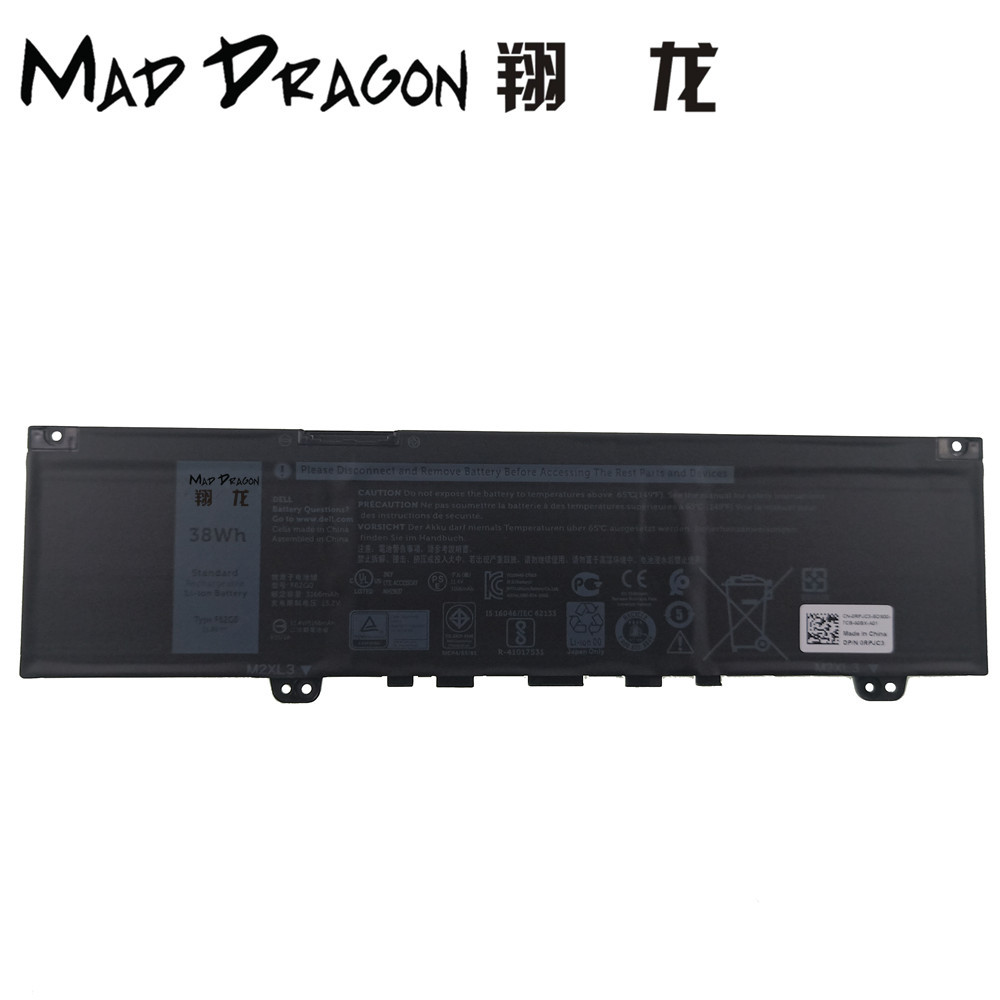 FOU DRAGON Ordinateur Portable de Marque NOUVELLE Batterie Au Lithium pour Dell Inspiron 13 7370 7373 Vostro 5370 L13.2V 38Wh 3 Cellulaire F62G0 0RPJC3 RPJC3