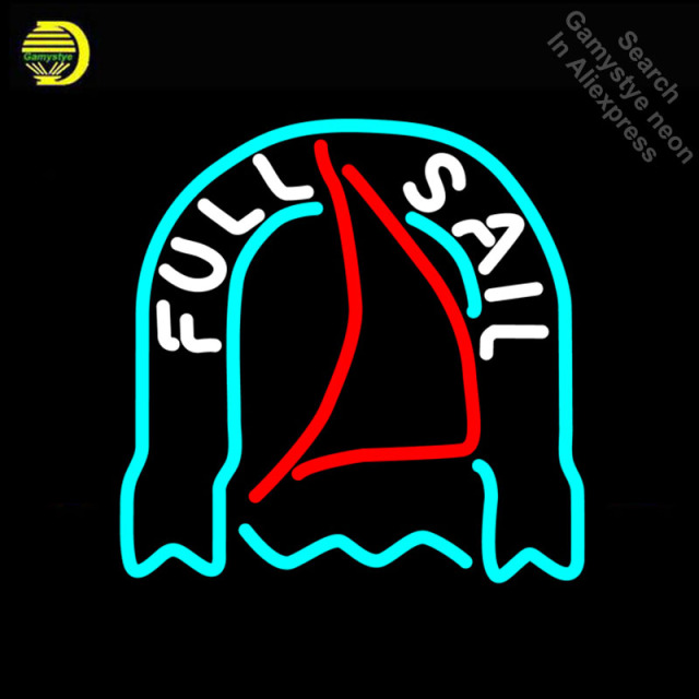 Neon Sign for Fost Full Sail Neon Bulbs sign handcraft neon light wall Glass tube Decorate Room sign handmade anuncio luminos