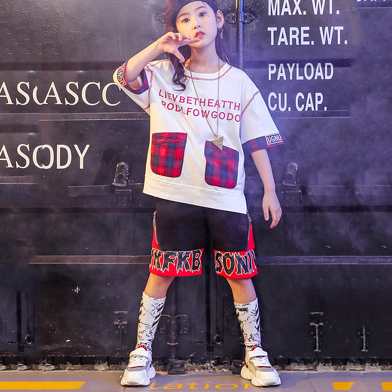 Stage & Dance Wear Summer New Street Dance Set Children Korean Version Hip-hop Jazz Dance Clothes Loose Tops Shorts Boy Girl Drums Costumes Dwy1474 Grade Products According To Quality Novelty & Special Use