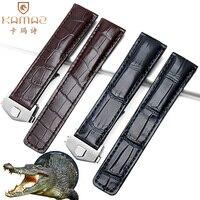 Заменитель Taghoya из крокодиловый кожи ремешок Hoya Kalera Monaco складной Пряжка часы аксессуары Прочные часы ремешок