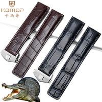 Substitute TAG Taghoya crocodile skin leather strap Hoya Kalera Monaco folding buckle watch accessories Durable watch strap