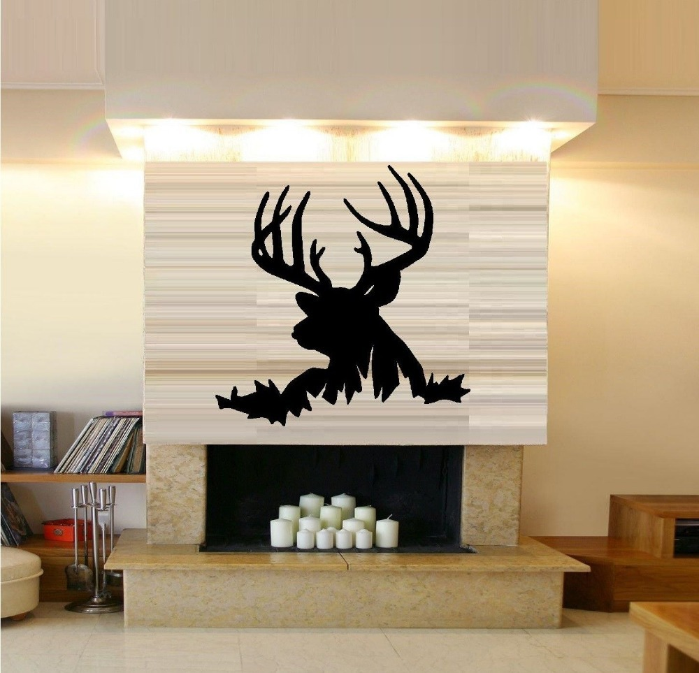 Fashion Deer Head Vinyl Wall Decal African Animal Buck DeerTribal Mural Wall Sticker Home Decoration Wall Sticker For Bedroom