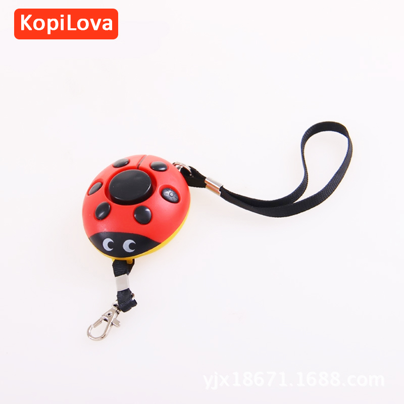 KopiLova Beatles Women Security Alarm Personal Alarm Key Chain 120dB Attack Protection Self Defense For Help