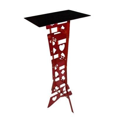 Tableau pliant magique en alliage d'aluminium-couleur rouge tours de magie magicien meilleur accessoire d'illusions de scène de Table facile à transporter - 2