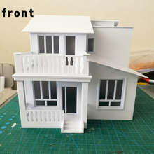 1:50 modern Simple Residential Building Model Finished Plate Manual Making