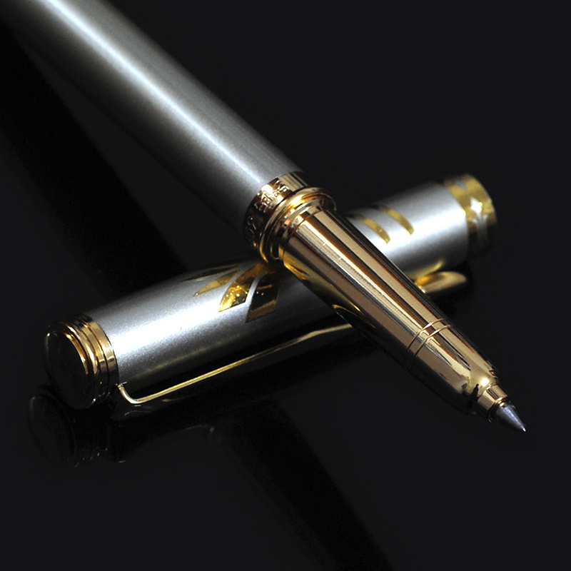 VITNAT Brand Luxury 0.5mm Gold Stainless Steel Metal Ballpoint Pen Office School Supplies Black Ink