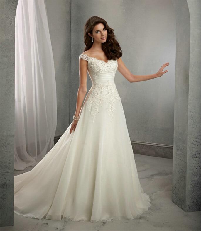 Us 8711 12 Offvestido De Noiva Beach Wedding Dress Casamento A Line Cap Sleeves Robe De Mariage Vintage Boho Lace Wedding Dresses 2016 Ow 7800 In