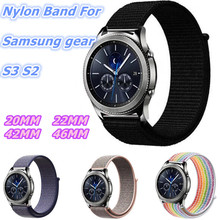 Nylon loop Strap For Samsung Gear S3 S2  20/22mm Sport Bands Classic Galaxy Watch 42/46mm Samsung Gear Frontier Band  bip Strap все цены