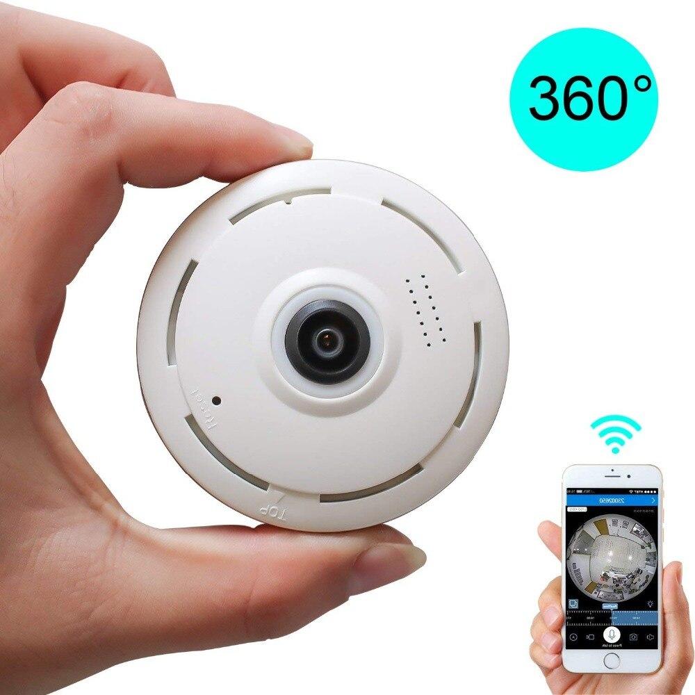 Panoramic WIFI VR Camera 360 degree Mini CCTV Camera Two Way Audio 3D Wifi Camara Fisheye Wide Angle Home Security Baby Monitor
