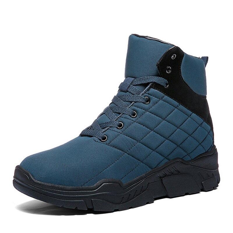 Hombres Antideslizantes Botas Felpa Tobillo Invierno La Negro Nieve De Caliente Los azul Zapatos qTdRqY