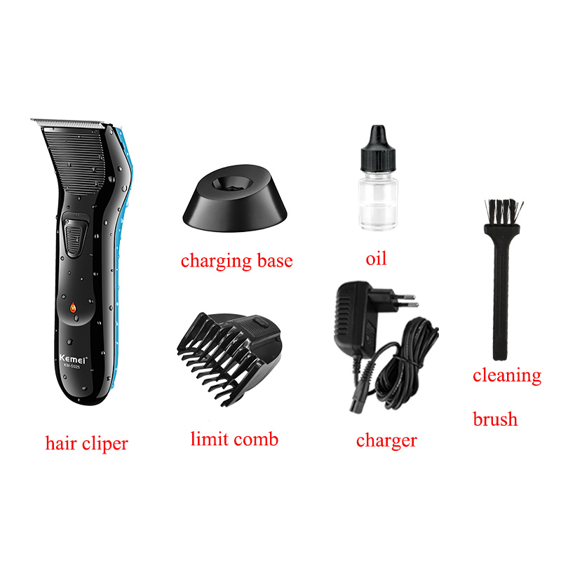Kemei Professional Rechargeable 0mm Baldheaded Hair Beard Trimmers Haircut Styling Machine Barber Electric Unique Hair Clipper 3
