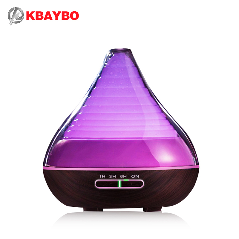 300ml aroma essential oil diffuser wood grain ultrasonic for Living room humidifier