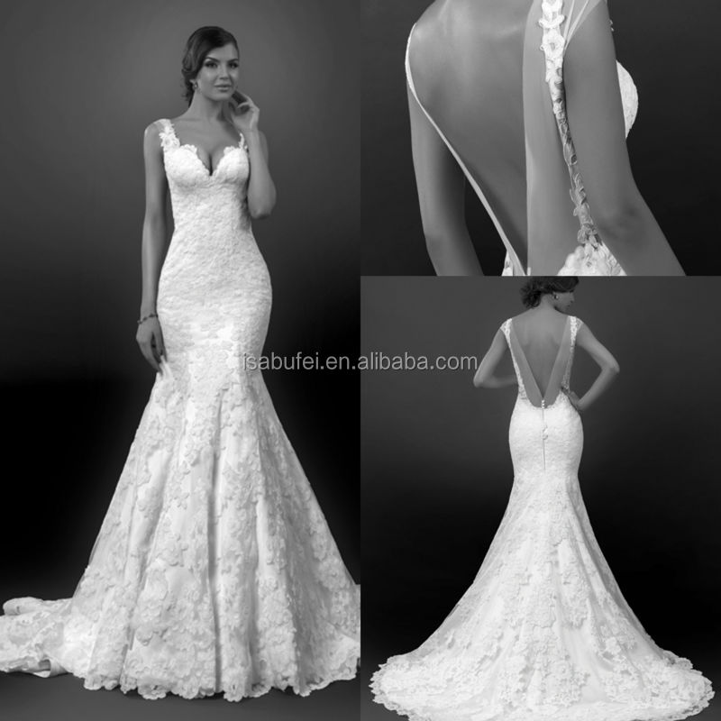 Wedding Dress Open Back Mermaid