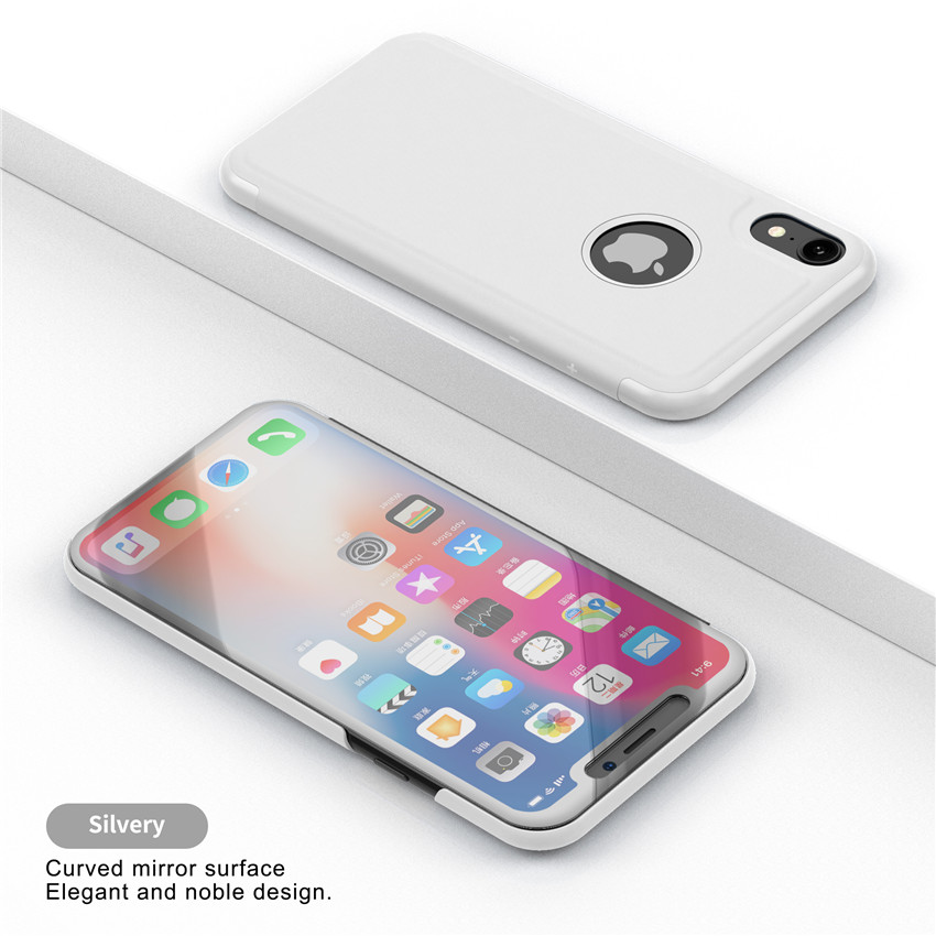 on sale 53af4 41a21 Luxury Touch Flip Stand Case For Iphone X XR XS MAX 8 7 6 6S Plus 5 5S Se  Mirror 360 Degree Protection Full Cover For iphoneXS