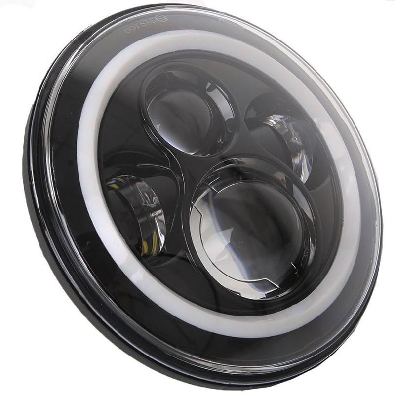 2PCS Λευκό με λευκό 7 '' LED προβολέα H4 Hi / Lo - Φώτα αυτοκινήτων - Φωτογραφία 4