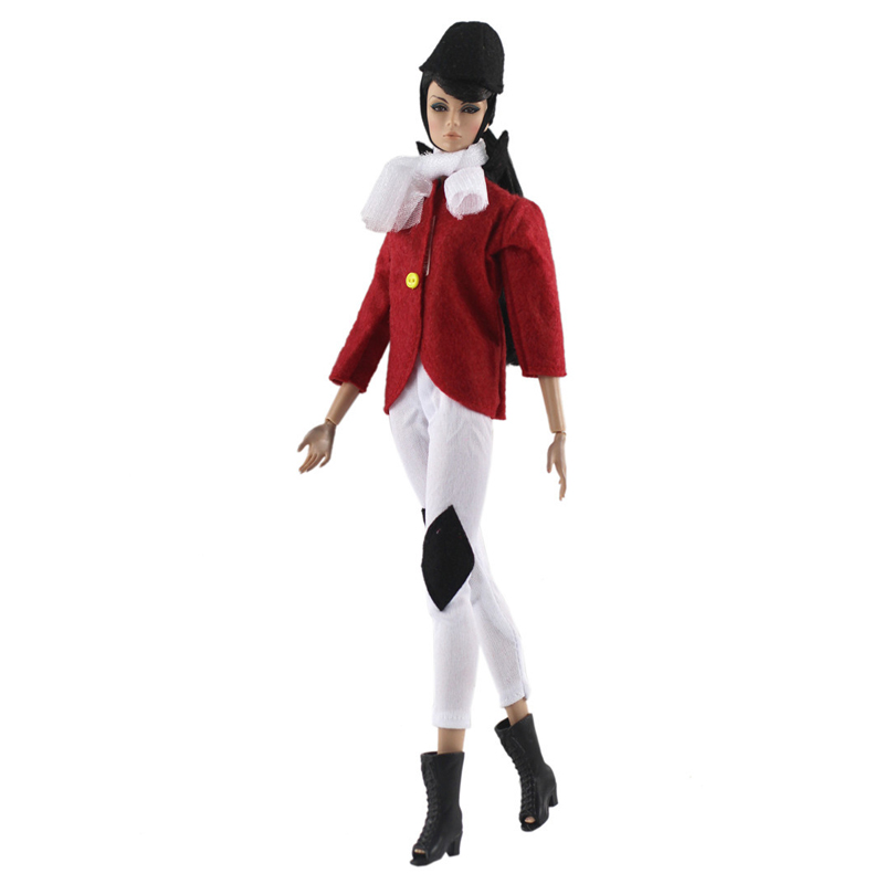 Cosplay Riding Costume Coat Pants 1//6 Accessories For Barbie Doll Clothes Outfit