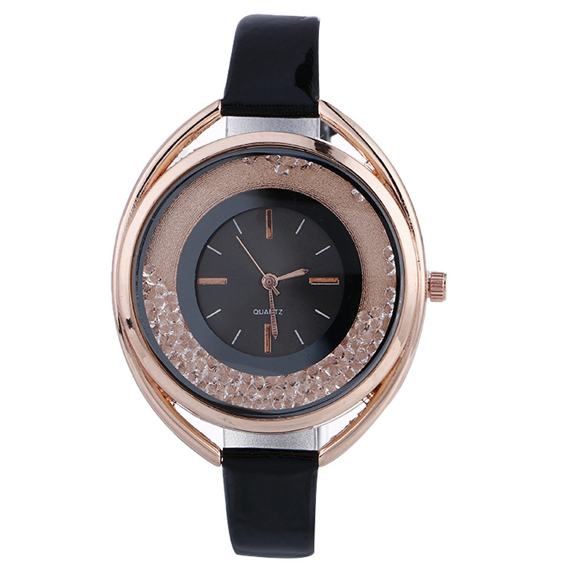 New Arrive Luxury Dress Clock Female Brand Ladies Watch Diamond Analog Leather Band Quartz Wrist Watches Women Relogio Feminino cute cat pattern women fashion watch 2017 leather band analog quartz round wrist watch ladies clock dress watches relogio time
