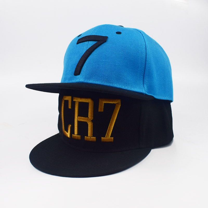 blue black Cristiano Ronaldo Big bone embroidery CR7 Hats Baseball Caps Hip Hop Cap Snapback Hats Men Women High Quality cheapu high quality embroidery women baseball cap snapback hip hop casual police caps for men women washed trucker hat dad hats bone