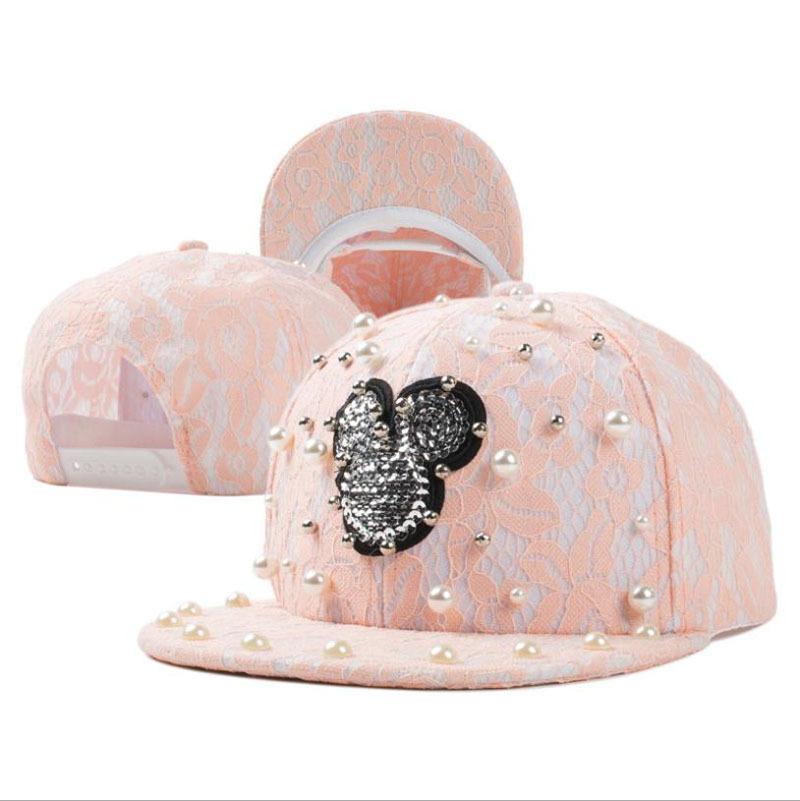 mickey lovely handmade lace pearl sequins hip hop hat sun baseball cap flat caps for sale philippines babies dogs to wear uk