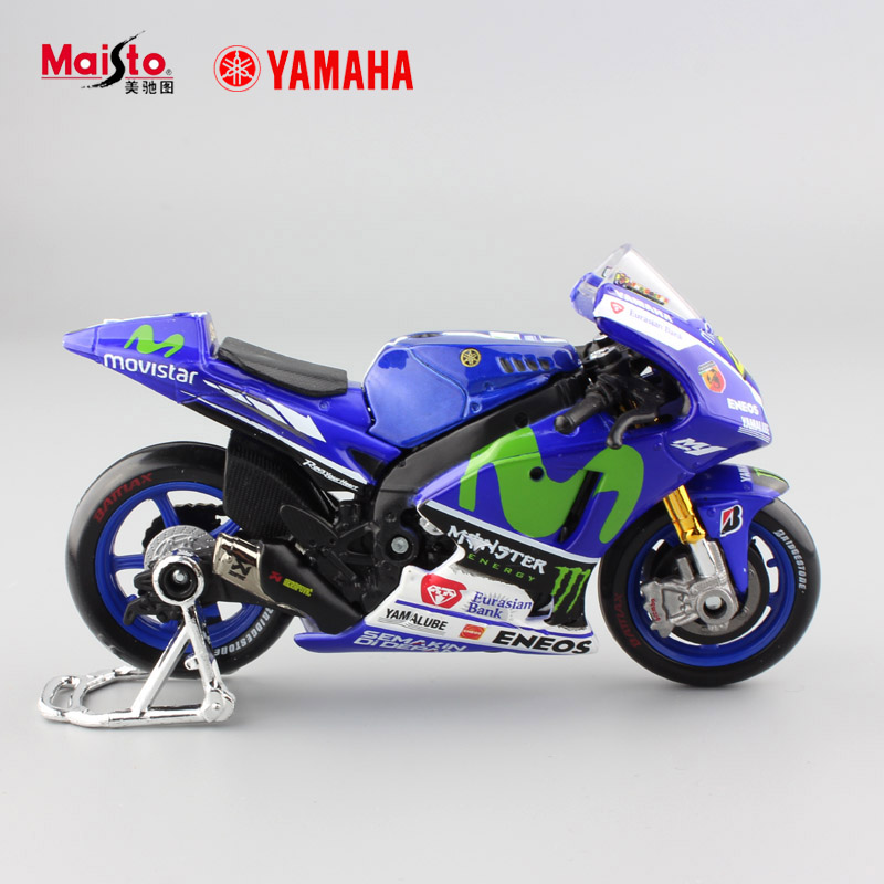 crianas escala mini yamaha factory racing no metal motorbike diecast carros